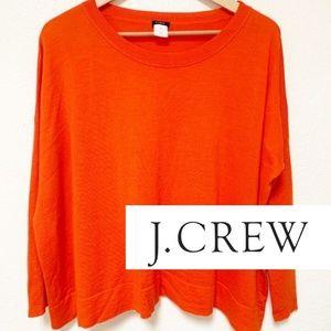 J. Crew | Orange Loose-Fit Long Sleeve Top XS